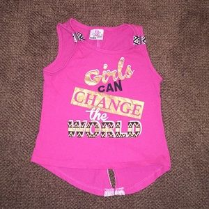 Girls Can Charge The World Tank top